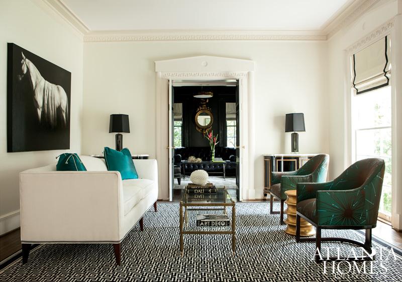 Interiors southern charm meets modern glamour sukio - Interior design firms atlanta ga ...