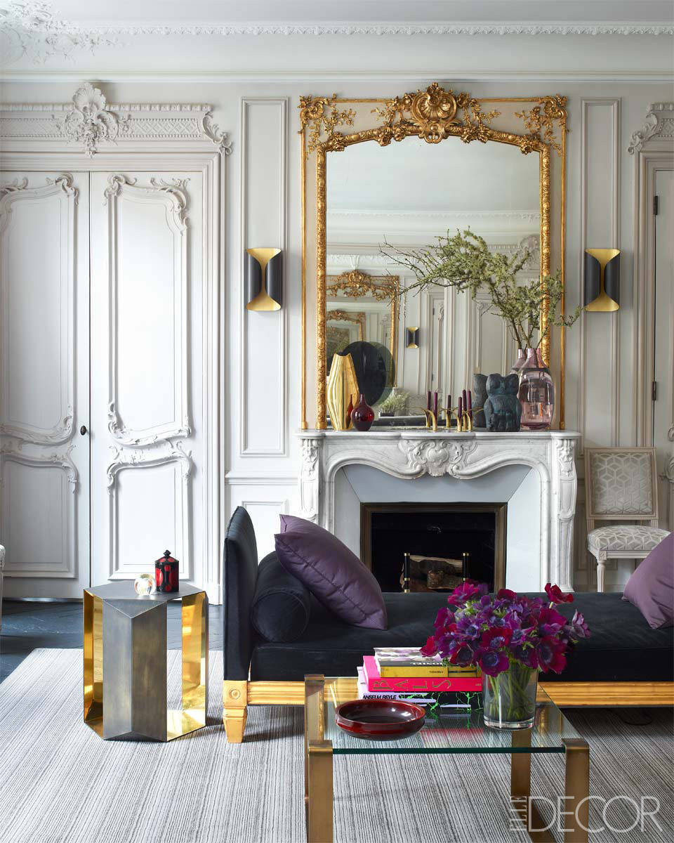 Paris Home Decor: Interiors: A Glamorous Paris Apartment By Champeau & Wilde