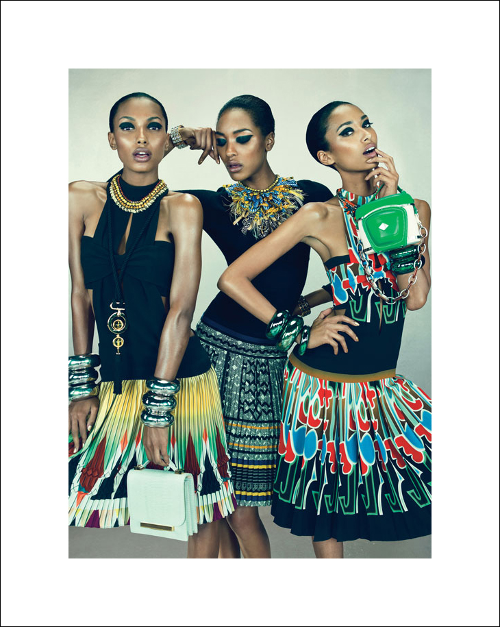 Anais Mali, Jasmine Tookes, Jourdan Dunn | W Magazine