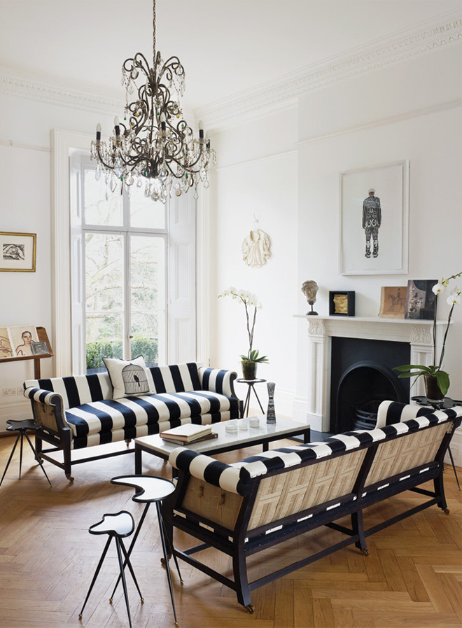 Living room designed by Harriet Anstruther. Image: Henry Bourne