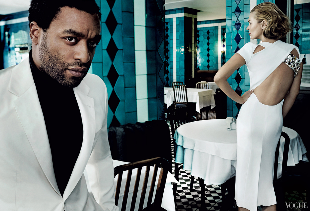 Kate Moss and Chiwetel Ejiofor for Vogue US
