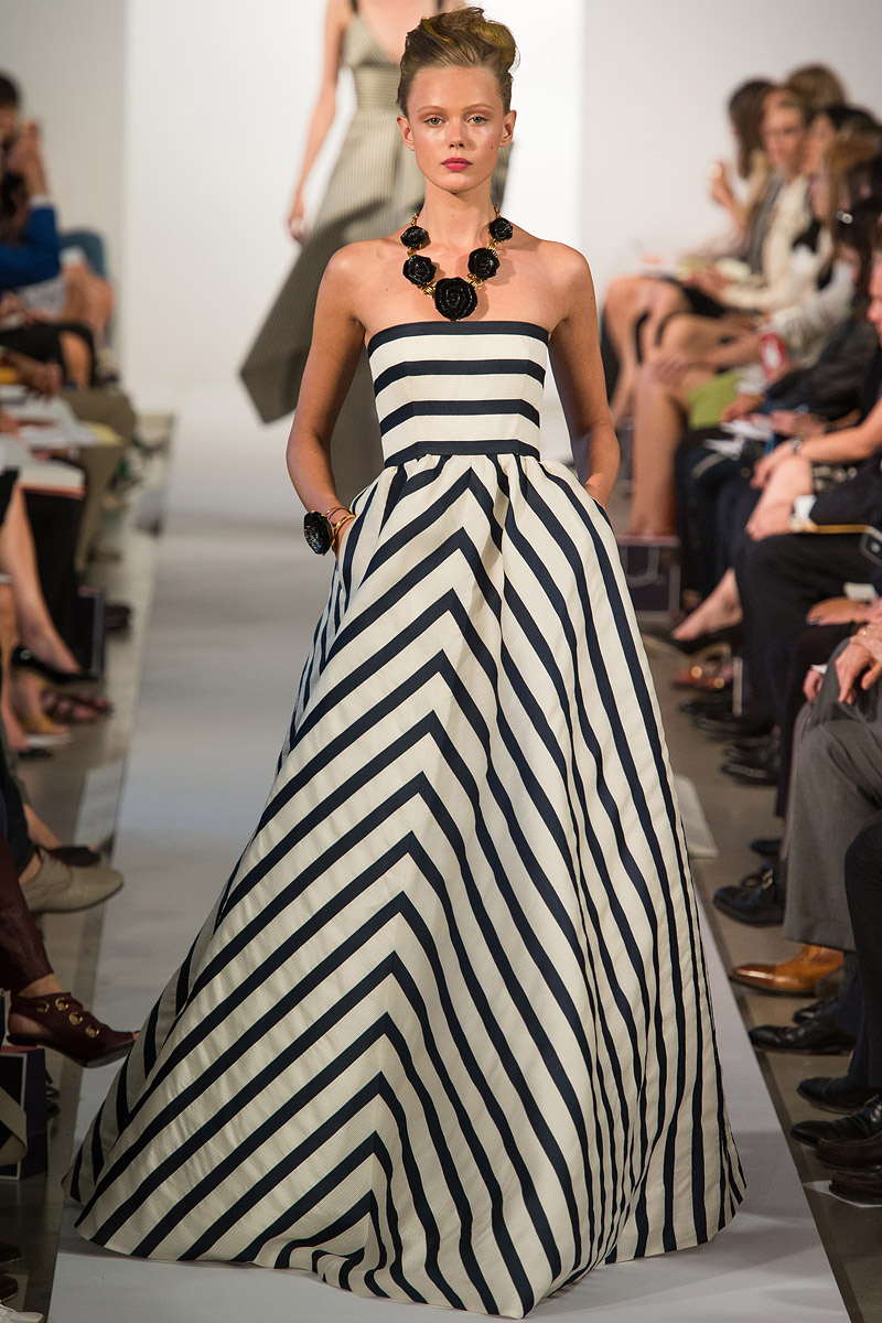 Oscar de la Renta Spring 2013, Striped Gown