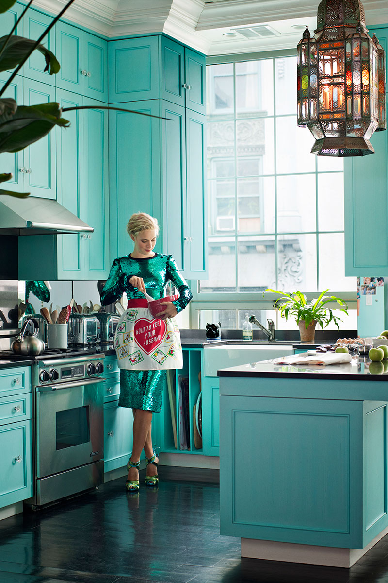 Veronica Swanson Beard's color-infused kitchen #interiors