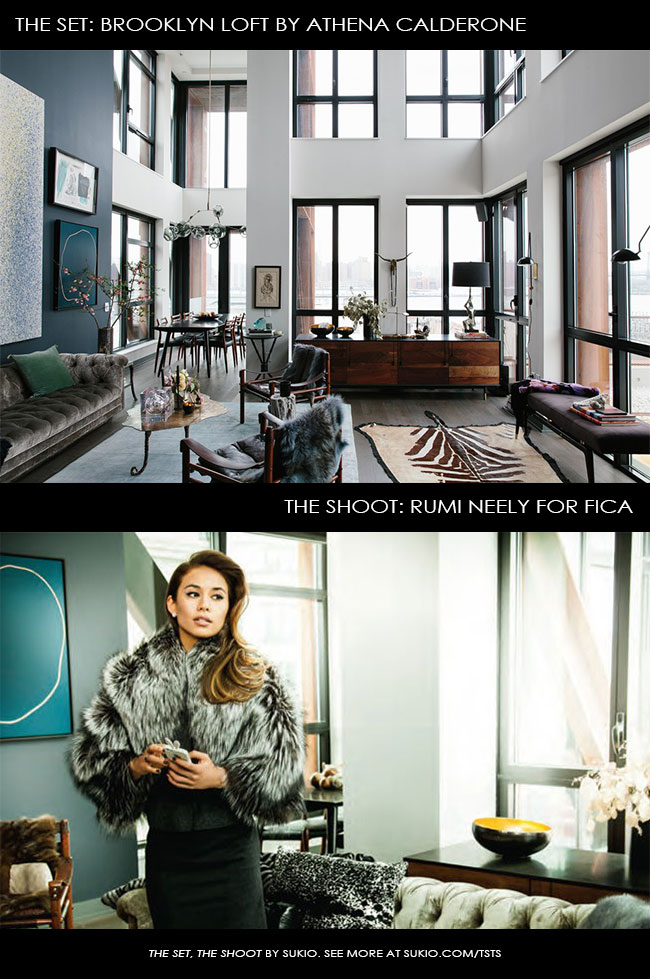 Rumi Neely in Athena Calderone's Brooklyn Loft