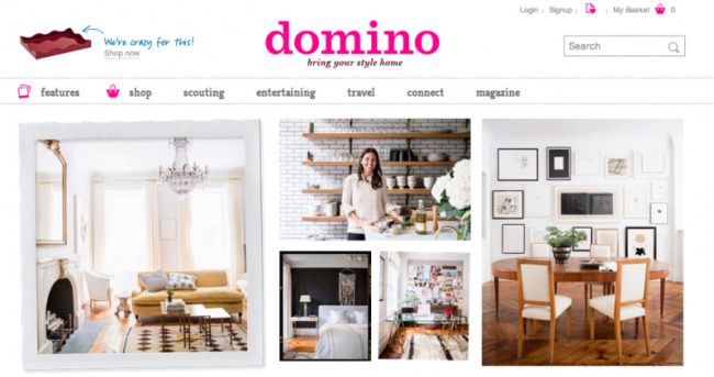 Domino Magazine Website