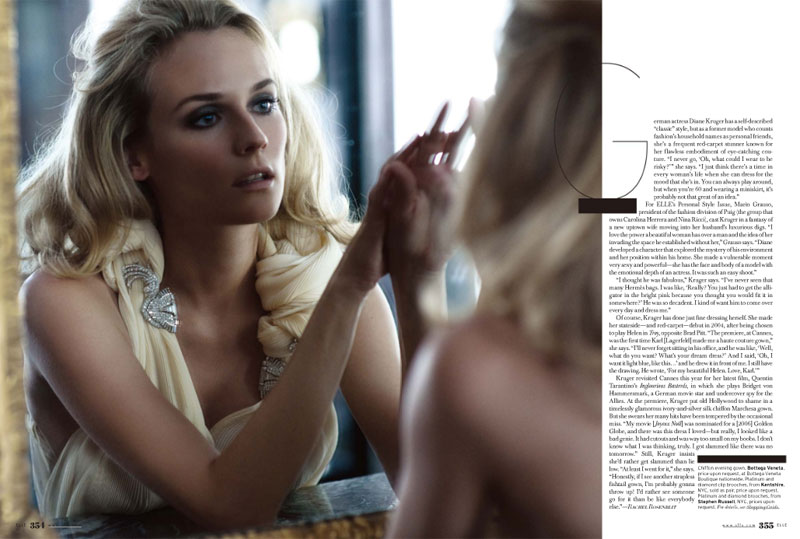 Diane Kruger Elle October 2009