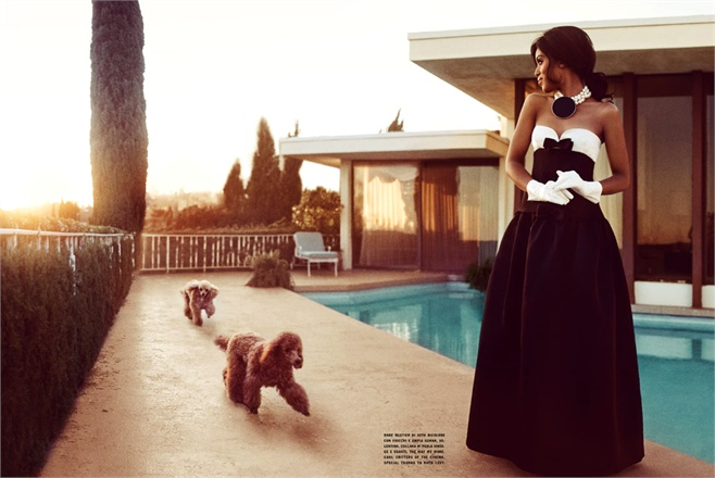 Django Unchained's Kerry Washington in Valentino, Vogue Italia