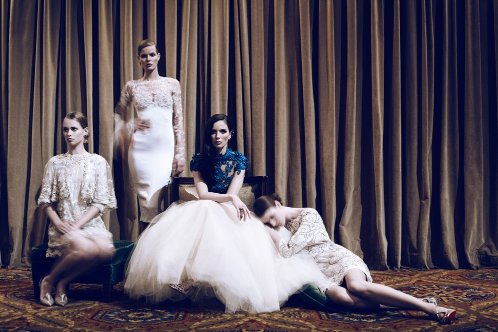 Georgina Chapman in Marchesa for Lifestyle Mirror