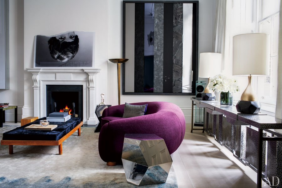 Interiors a london townhouse with an artistic twist for Living room 8 place jean rey