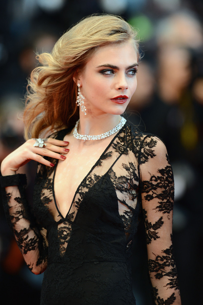 Cara Delevingne, Cannes Film Festival 2013. Jewelry by Chopard.