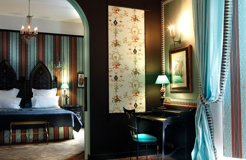 Madeleine Castaing inspired suite at Saint James Hotel, Paris.