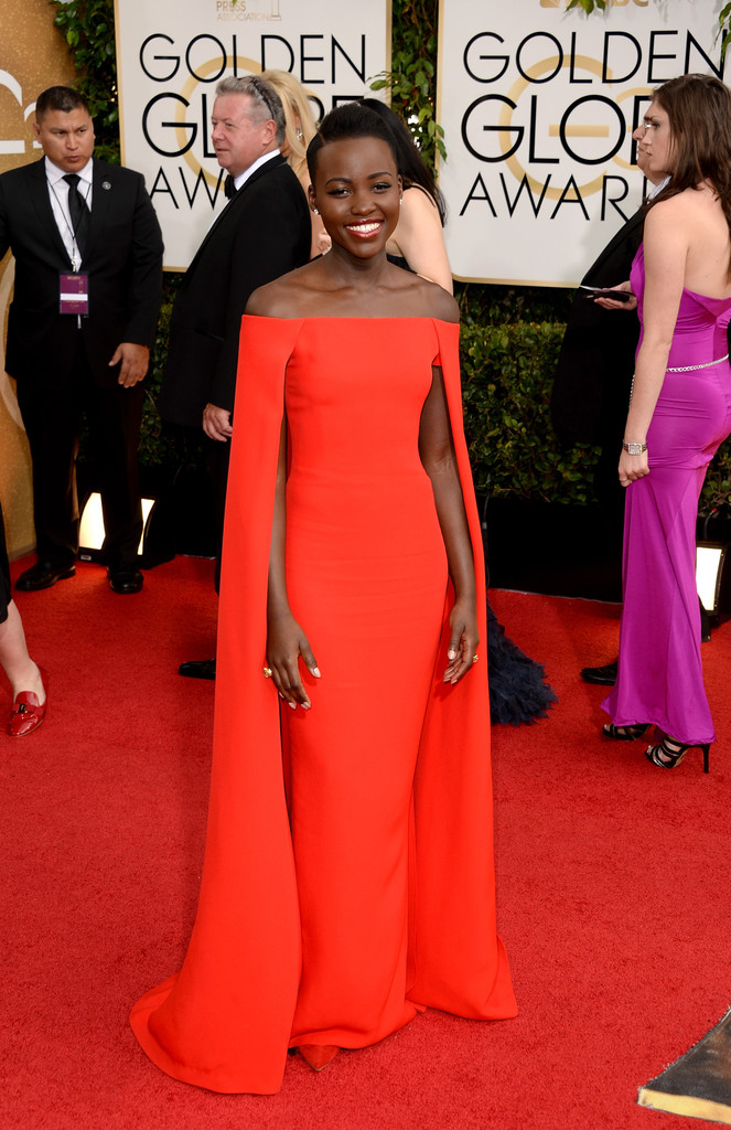 Lupita Nyong'O, Golden Globes Red Carpet