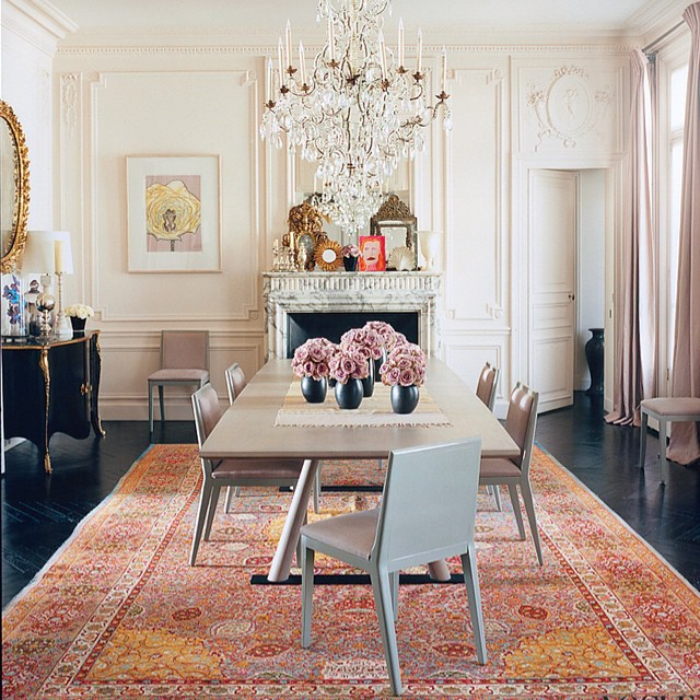 What's not to love about the late great L'Wren Scott's Paris pad? #modernglamour #interiors