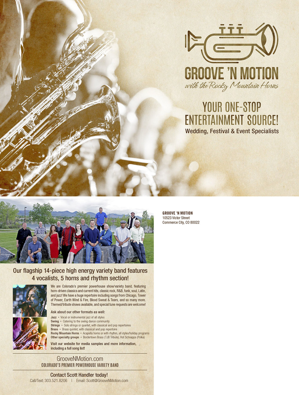 Groove 'N Motion promo postcard