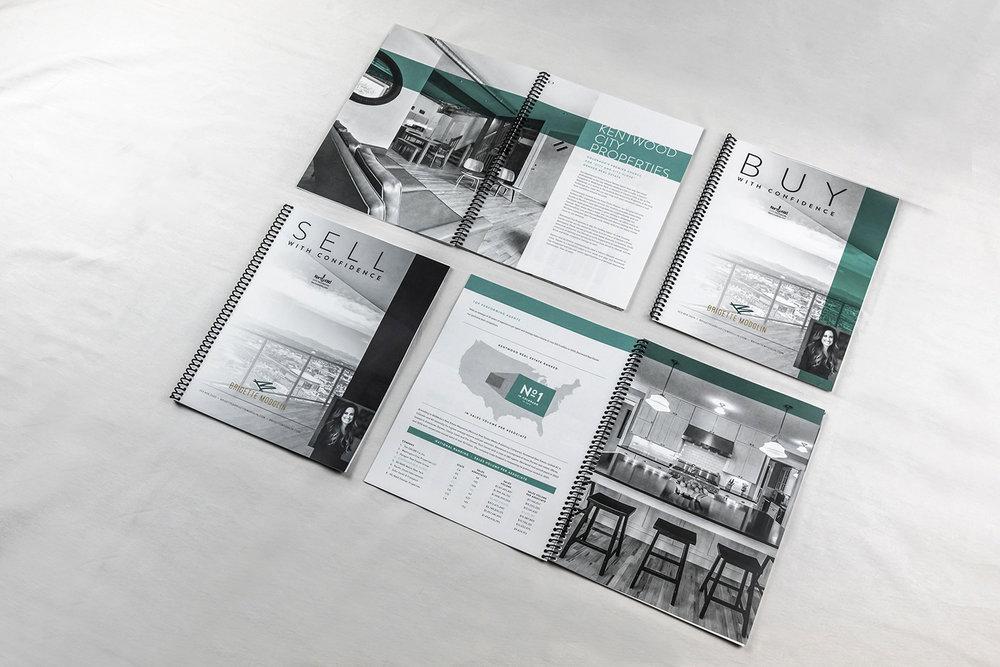 Custom client resource books for Brigette Modglin