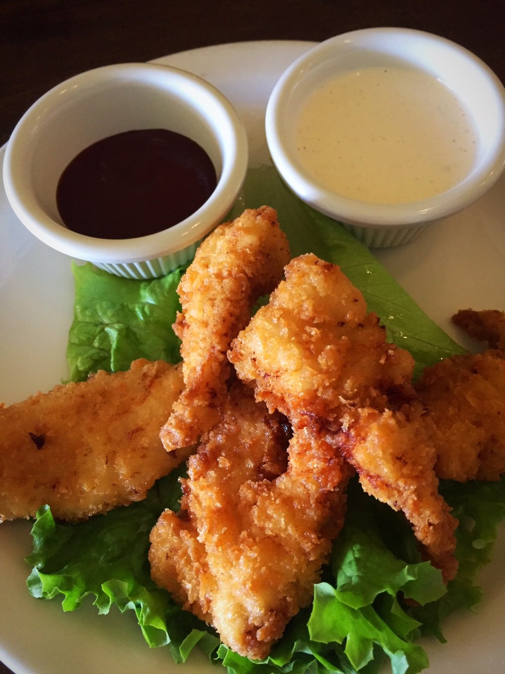 Golden Crisp Chicken Tenders - with BBQ Sauce & Ranch Dipping Sauce