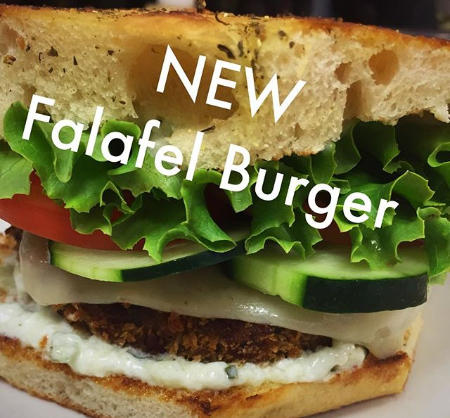 Come by and try out our delicious FALAFEL BURGER now located on our everyday menu ⭐️⭐️ #vegetarianlunch #frescorestaurant #readerschoice2017winner #yummy #greatfood