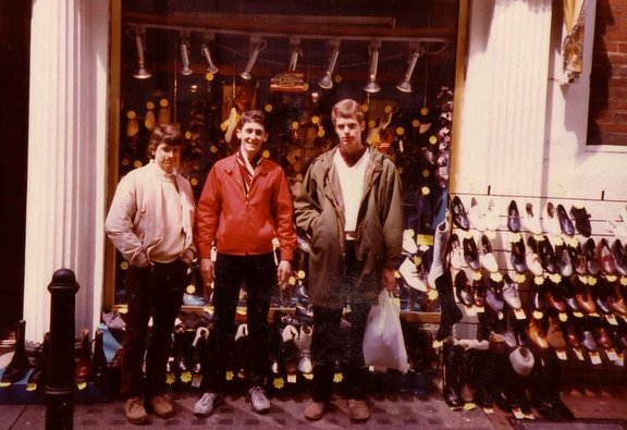 With friends on Carnaby Street