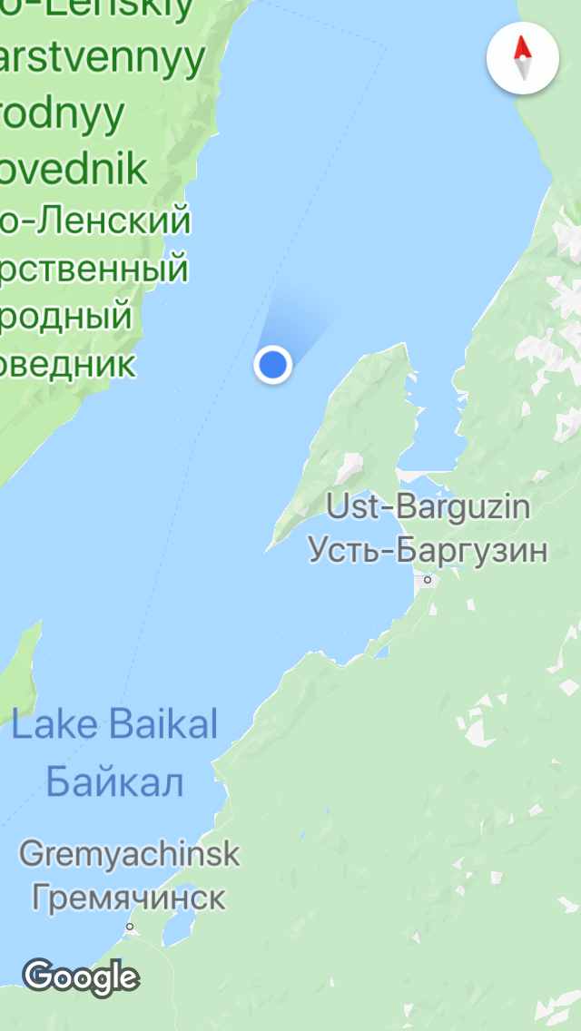 Sometimes Google can find your car on Lake Baikal.