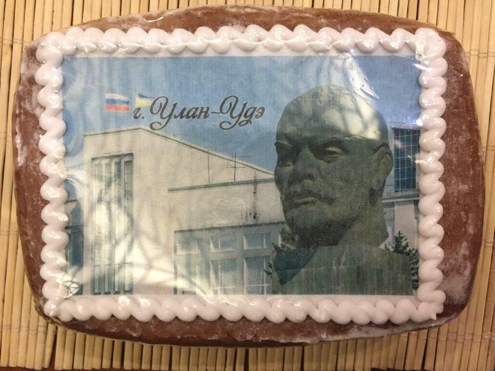In Ulan-Ude, monumental socialist realism meets pop cuisine in this inimitable Lenin head gingerbread.