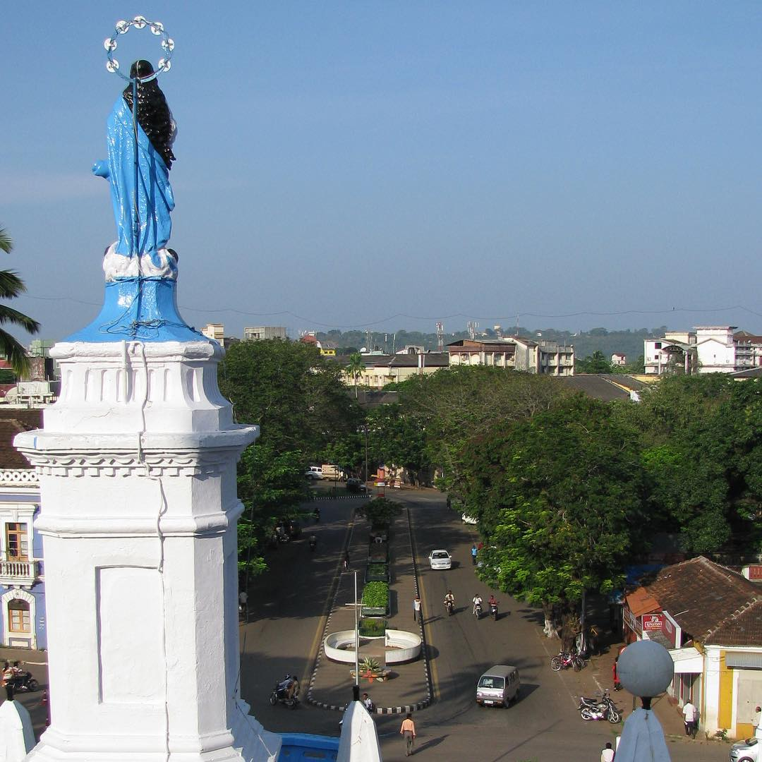View from the top of Our Lady of the Immaculate Conception Church in Panjim, Goa.     #youfollowthefilm #catholic #catholicism #india #goa #church #panaji #StAnthony #pray #givethanks #priest #portuguese #religion