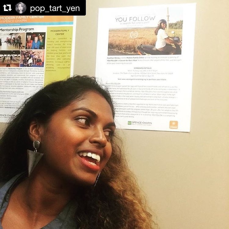 "#Repost @pop_tart_yen ・・・ A dear friend showing us some love in NY! Watch ""YOU FOLLOW""! It's an amazing documentary following @jalmi_jojo search for her birth mom… It's a must see and it's now available online for streaming! visit {WeAreGazillionStrong.com}@youfollowthefilm #youfollowthefilm #youfollowscreening #newyork #brooklyn #FANS #film #documentary #bestnightever #womenfilms #modernfamilycenter #adoption #adoptionrocks #sometimes #adoptionfilms #elevatorswag"