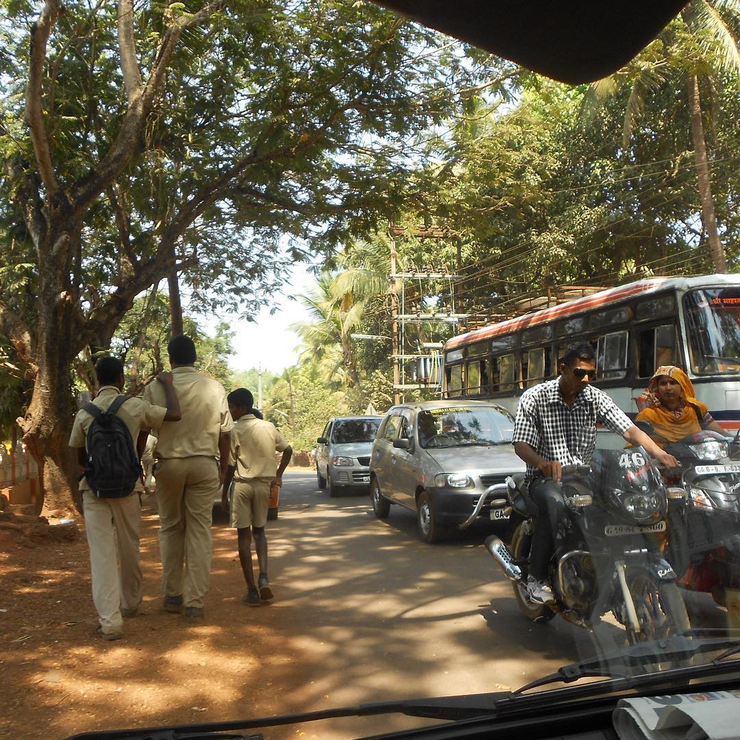View from the passenger seat.     #youfollowthefilm #india #goa #traffic #motorcycle #films #independentfilms #photography #instatravel #travelpics #shadows #moviemaking