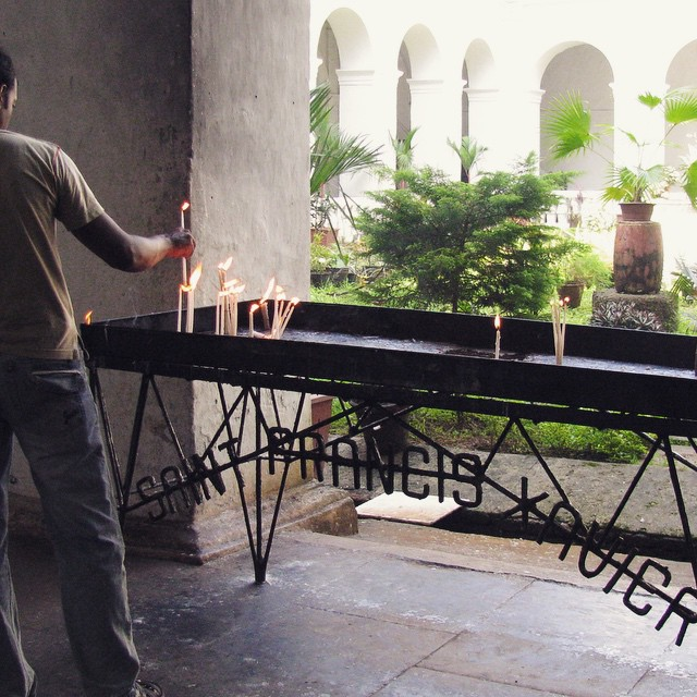 A day trip to old Goa on our day off. #youfollowthefilm #church #india #goaindia #southeindia #oldgoa #candles #catholic #saintfrancisxavier #dayoff #documentary #indiefilms