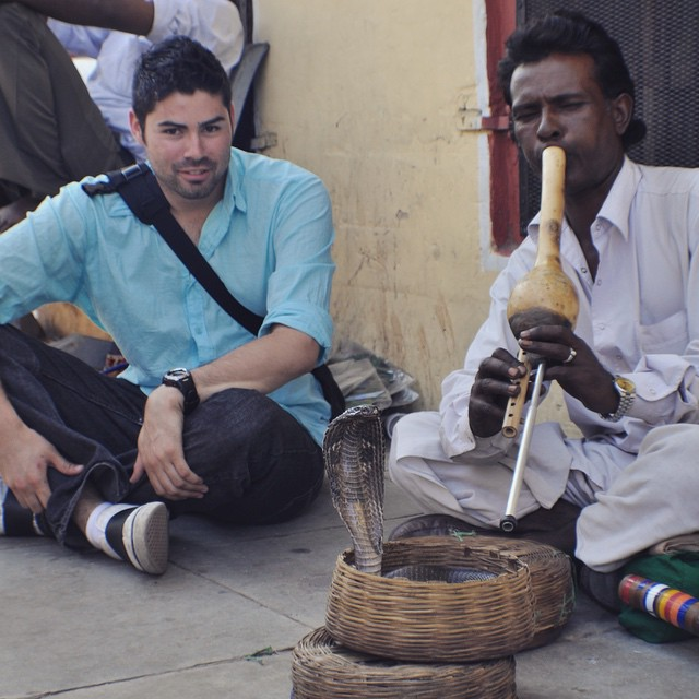 Who doesn't have time for a snake charmer?! #youfollowthefilm #jaipur #india #snakes #travel #tourist #onlocation #films #makingmovies #documentary #filmcrew