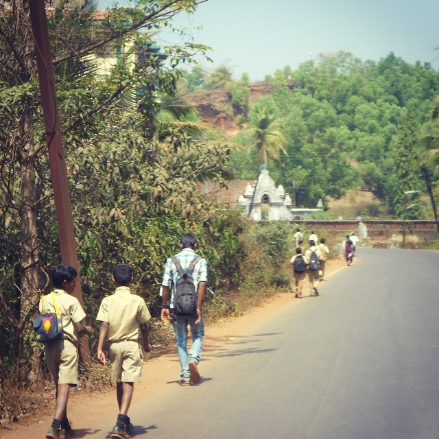 School kids walking home. #youfollowthefilm #films #school #catholic #india #goa #goaindia #paradise #indie #indiefilms #femaledirector #onlocation #home #moviemagic