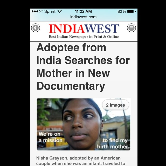 A reader of IndiaWest contacted me about her interest in viewing our film!! Thank you IndiaWest for acknowledging #youfollowthefilm and helping us spread the word! To read the article visit IndiaWest.com and search the film title YOU FOLLOW: A Search for One's Past. @lavery232 @saywhatfoo