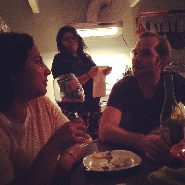 Dinner party/ Kickback with some lovely friends. I haven't laughed this much in a long time. #youfollowthefilm  (at Echo Park Boys and Girls Club)