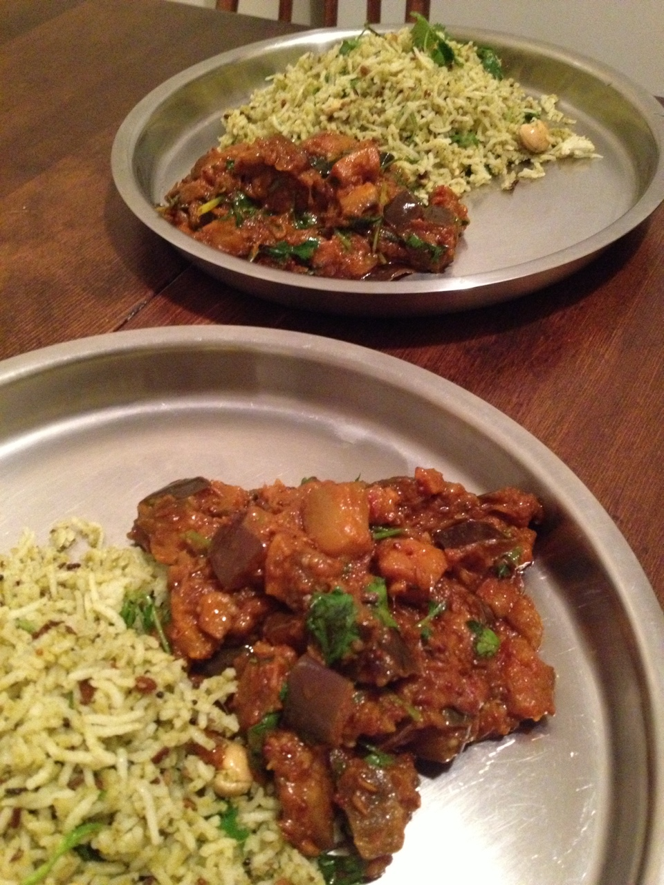 Homemade eggplant curry by  velogold  ! I was lucky enough to learn from one of the best. Before I met him, I knew absolutely nothing about cooking Indian dishes, but now I can say that I at least know how to make a bomb ass curry. I am forever grateful that he changed my life!