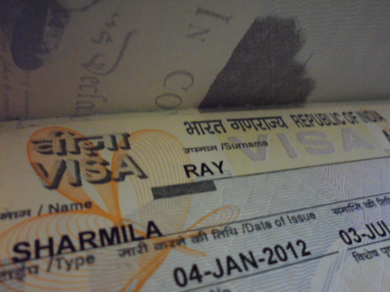This is what an Indian Visa looks like… We have had some snafus with getting this fine piece of paper… I accidentally said that my father was from Pakistan… Now our producer is waiting for a Journalism visa… which is taking forever! I'm praying that today is the day that we get good news…    -SHAR