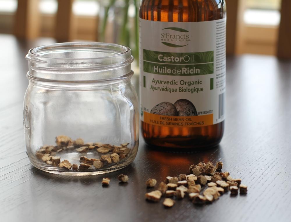 diy herb infused oils botanical medicine herb recipe castor oil