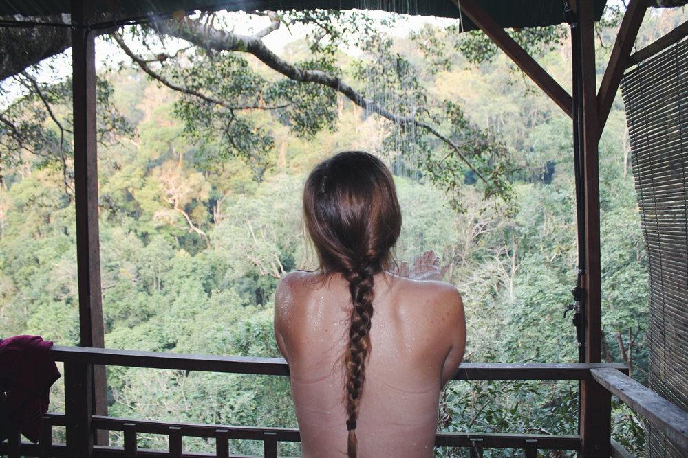 Briana Lutz- Laos forest shower