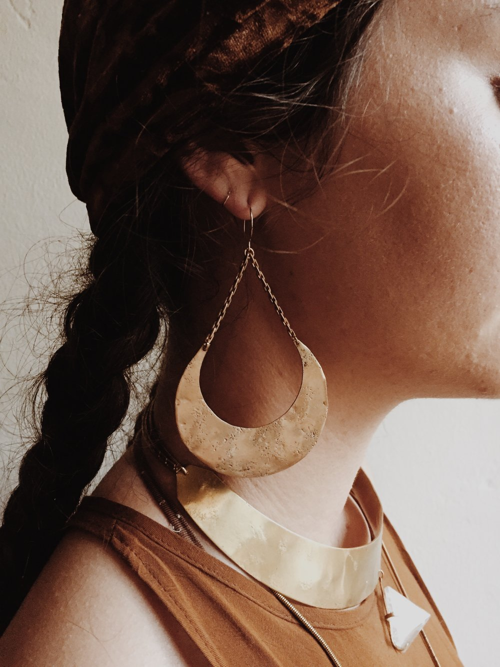 Luna  earrings and  Oracle  neck cuff
