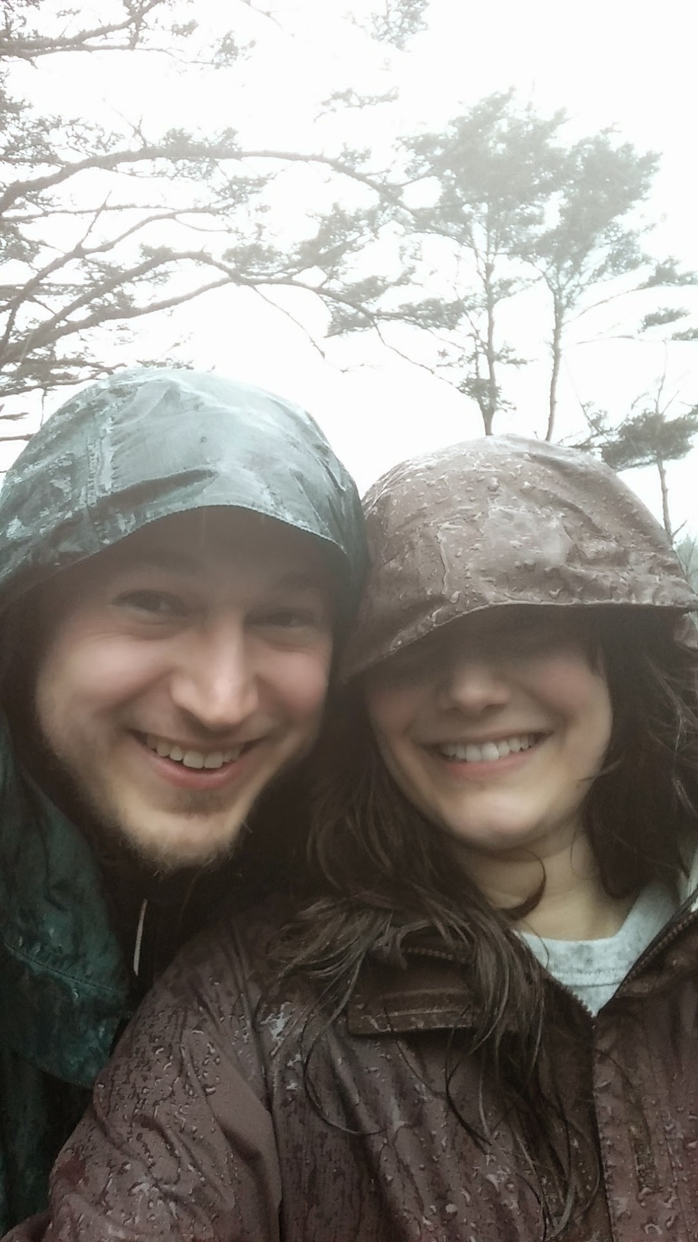 Hiking in the rain at  Heceta Head LIghthouse