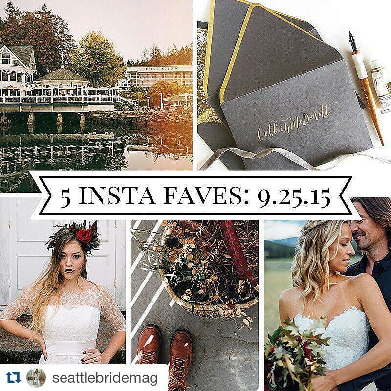 Got insta faved by  @seattlebridemag  times 2!!! Bottom right and bottom left.