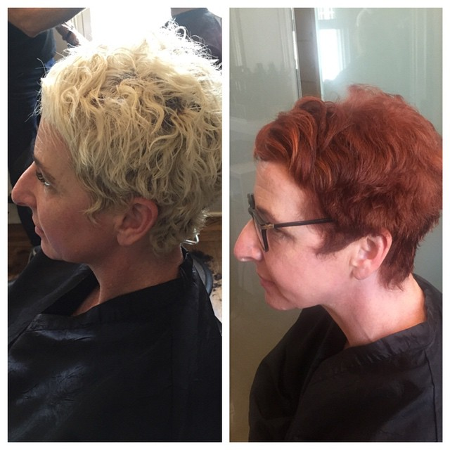 Beautiful transformation by Lori #teasesalonsf #wellacolor #oribe #redhead #wellahair