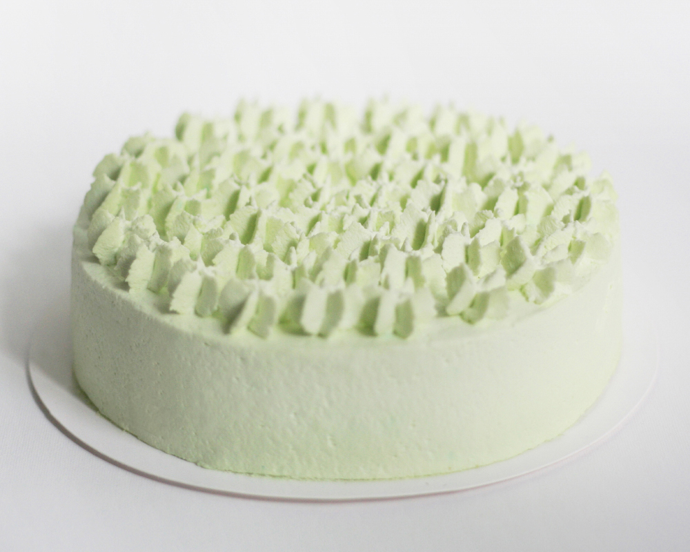 pandan young coconut CAKE - Pandan leaf-infused chiffonYoung coconut filling with fresh young coconut meatFresh whipped cream frostingM 550hkd / L 650hkd / XL 750hkd