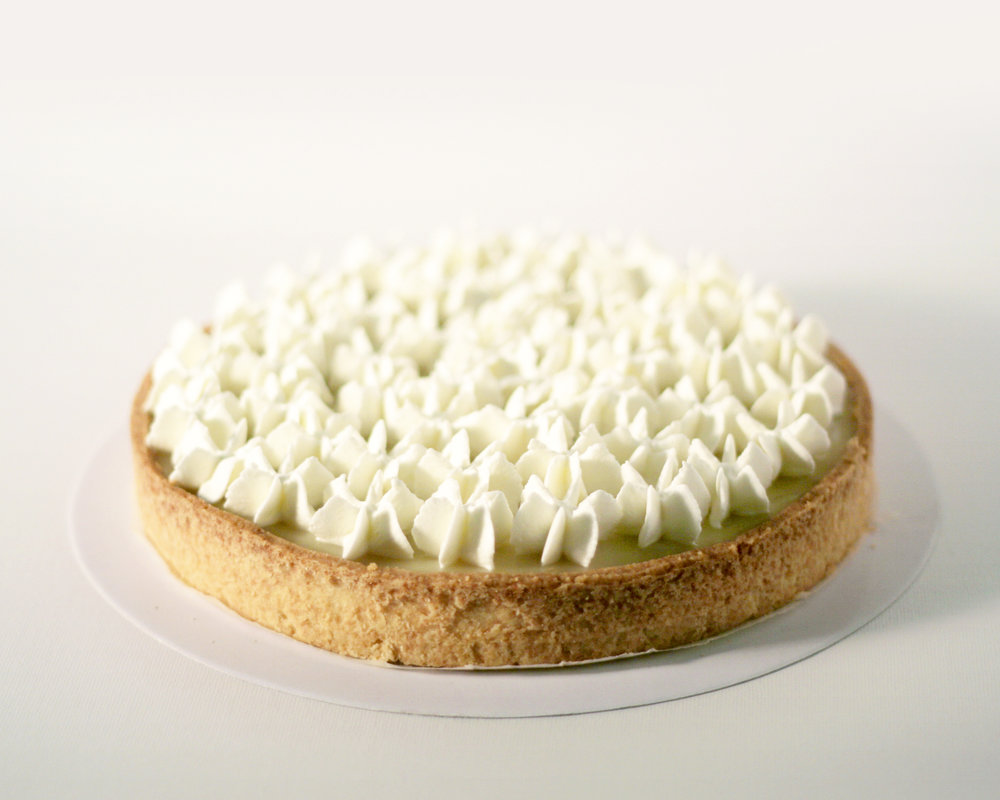 young coconut tart - Tart crustYoung coconut paste with fresh young coconut meatFresh whipped cream8