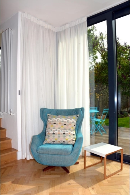 Lightweight, full-length, sheer curtains