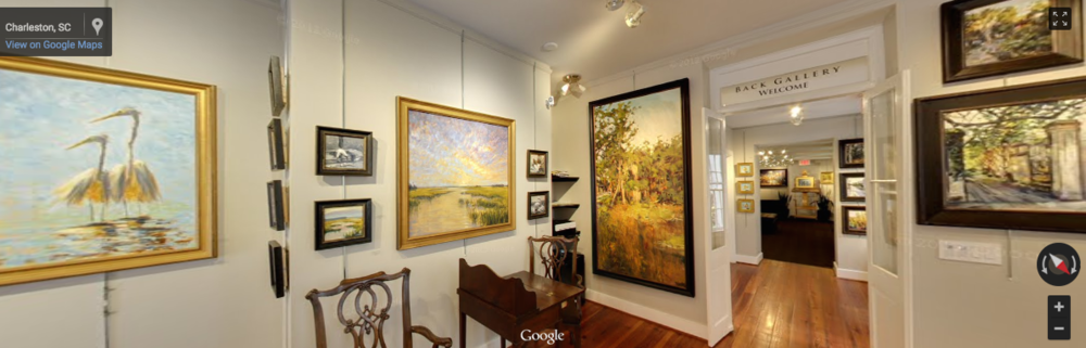 Art Gallery - Charleston SC   CLICK photo to walk around inside   and visit before you visit.
