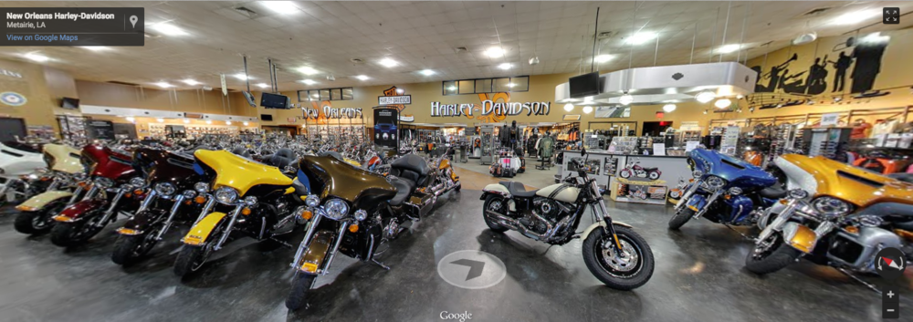 New Orleans Harley - Davidson   CLICK photo to walk around inside   and pick out your new bike.