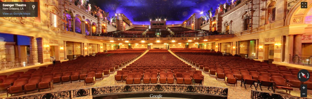 Experience what it's like to be on the stage of The Saenger Theatre - New Orleans