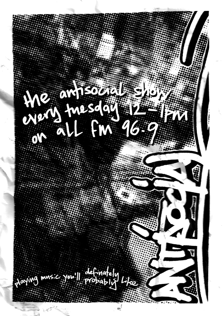 AN ANTISOCIAL RADIO SHOW  Since May 2014, Antisocial producer Fish has been broadcasting a weekly radio show playing a diverse mix of rock, funk, soul, reggae, rap, jazz, blues, psyche, soundtracks, cover versions - in fact pretty much anything with heavy drums - that reflects his musical influences whilst attempting to steer clear of the obvious songs that seem to be constantly played on the airwaves.  To us, it's simply one of the best weekly radio shows around..            The Antisocial Show is broadcast live in the Manchester area from   12pm - 1pm (GMT)   on ALL FM 96.9 and is also available to listen to at:  mixcloud.com/antisocialfish   Further, you can view a new video for the Efeks track Contemporary Classic also produced by Fish  by clicking here.