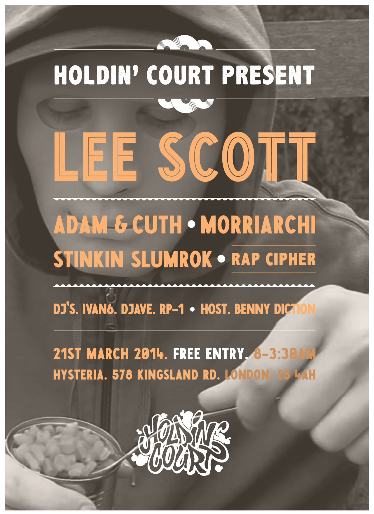 THIS MARCH IN EAST LONDON This show is FREE ENTRY! Click on the flyer to go to the Facebook event page.
