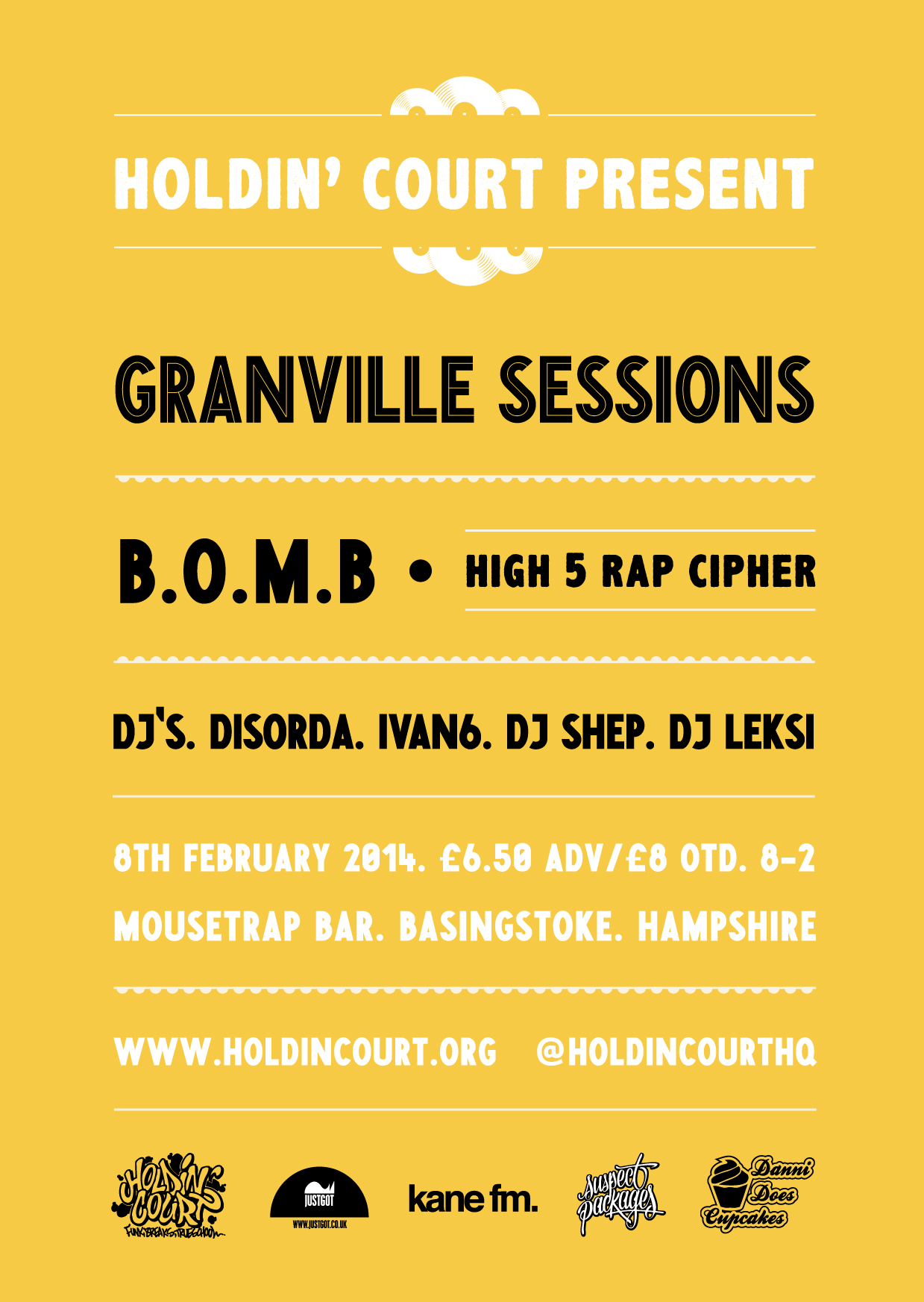 HOLDIN' COURT: HIGH FIVE! This coming Saturday we proudly celebrate fives years of underground, independent UK Hip-Hop events!  Click on the flyer to grab your advance tickets!