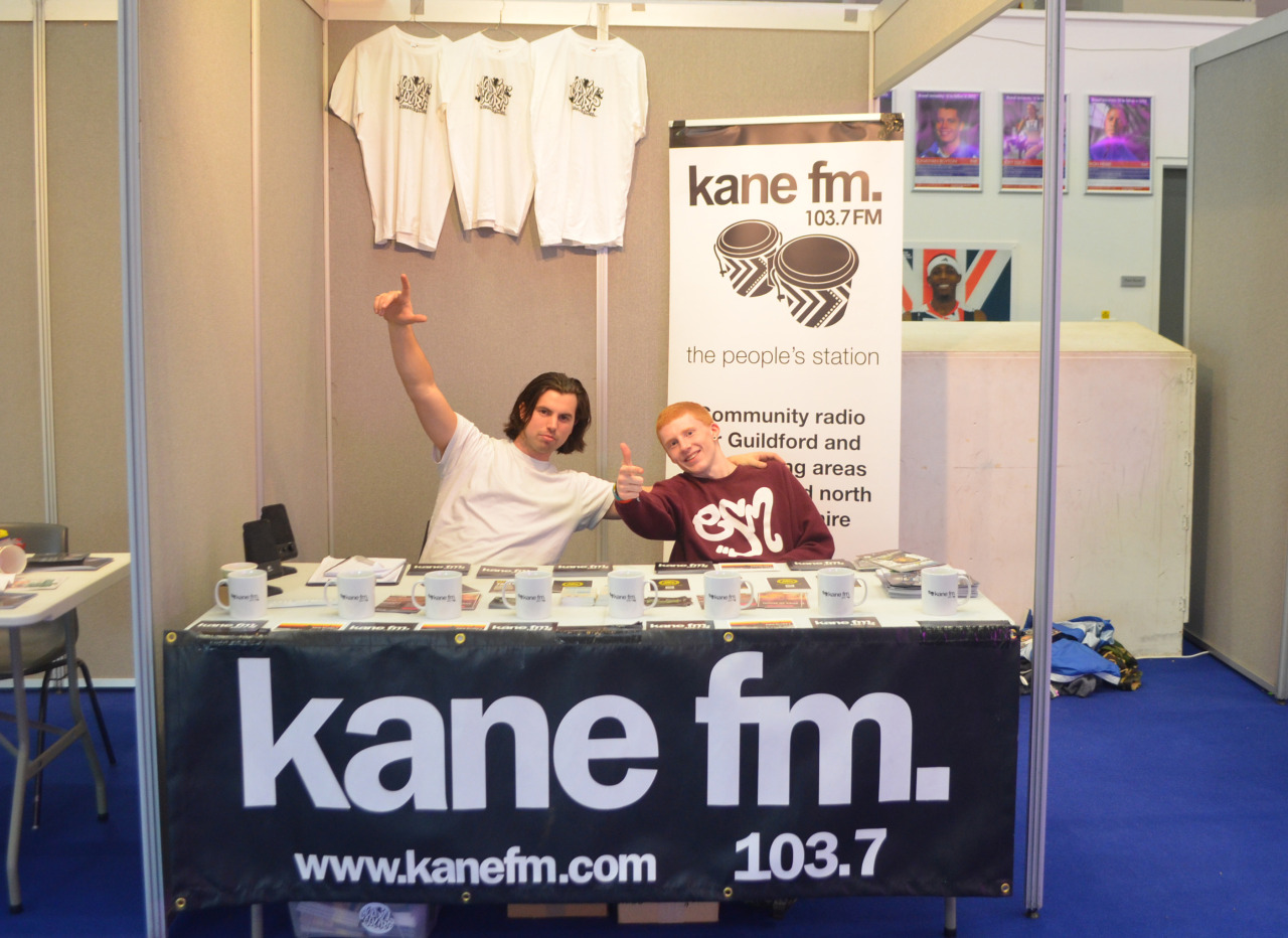 KANE FM AT PIONEERS: A HISTORY OF HIP-HOP DANCE The 1st weekend of November saw us representing for 103.7 Kane FM at the Pioneers: A History of Dance event held at Brunel University. This was a great opportunity to introduce one of the newest members of our team, Dom who will be working alongside us for at least the next few months. Above you can also see a shot of our competition winner who took away a limited edition Holdin' Court tee and Kane FM mug for entering a prize draw in support of Dance Aid. More about the event is HERE.